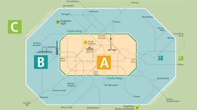 ベルリン交通局(BVG)地区別マップ